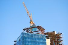 Free Crane On Skyscaper Construction Royalty Free Stock Photography - 7064267