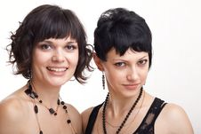 Free Two Beautiful Young Women Royalty Free Stock Photo - 7064765