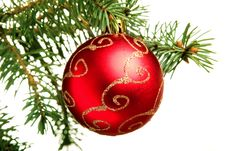 Free New Year. Christmas. Tree Decoration. Stock Photos - 7064903