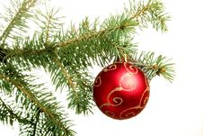 Free New Year. Christmas. Tree Decoration. Royalty Free Stock Photo - 7064965