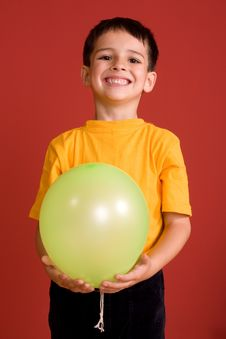 Free Smiling Boy With Ballon Stock Photo - 7065000
