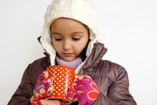 Free Little Girl With Cup Of Hot Tea Royalty Free Stock Photos - 7065028