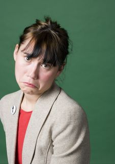 Free Portrait Of A Young Woman With Sad Face Stock Images - 7065104
