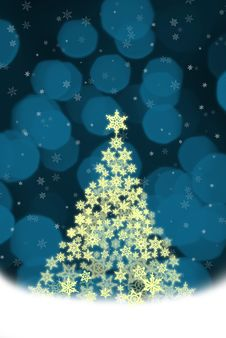 Free Christmas Tree From Stars Royalty Free Stock Photo - 7065505