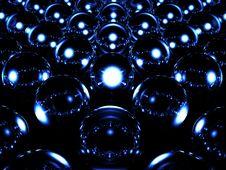 Glass Sphere Illuminates Royalty Free Stock Photos