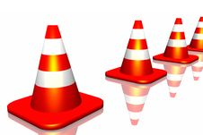 Free Traffic Cone Stock Photography - 7065832
