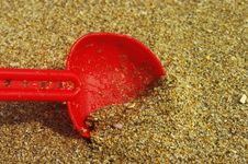 Red Shovel Royalty Free Stock Photography