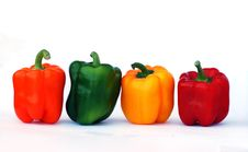Free Colorful Sweet Peppers Royalty Free Stock Photography - 7066627