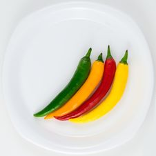 Colorfull Hot Chili Pepper Royalty Free Stock Images