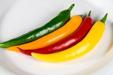 Free Colorfull Hot Chili Pepper Stock Image - 7066691