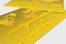 Free Gold Bank Card Royalty Free Stock Photography - 7067107