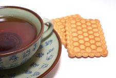 Free Tea And Cookies Royalty Free Stock Image - 7067216
