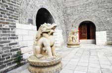 Free Dragon Statue In The Castle Stock Photos - 7067323