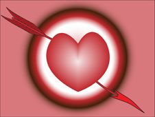 Heart Hitted By Arrow Stock Images