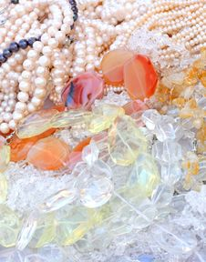 Free Different Gemstone Beads Royalty Free Stock Images - 7067649