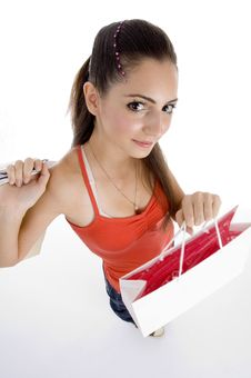 Free Beautiful Female With Shopping Bags Stock Images - 7068174