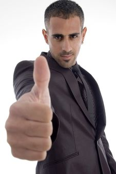 Free Man Showing Thumb Up Royalty Free Stock Photography - 7068437
