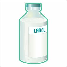 Free Vector Bottle Royalty Free Stock Photo - 7068995