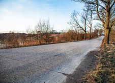 Road Stretches Into The Distance Royalty Free Stock Image