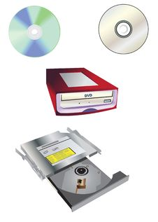 Free CD-DVD Collection Set Royalty Free Stock Photo - 7086825