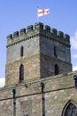 Free English Church Flying St. George Flag. Royalty Free Stock Image - 714236