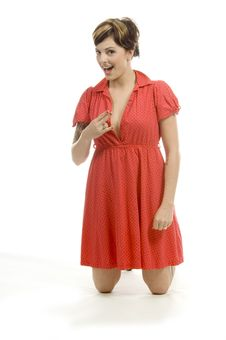 Free Girl In Red Stock Image - 710351