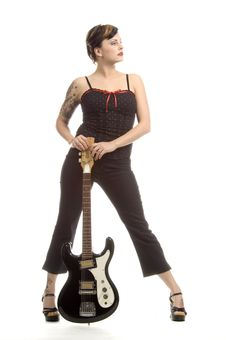Free Rock N Roll And Women Royalty Free Stock Image - 710756