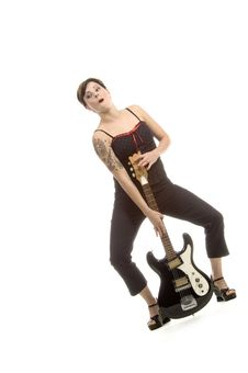 Free Rock N Roll And Women Royalty Free Stock Photos - 710758