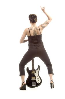 Free Rock N Roll And Women Royalty Free Stock Images - 710759