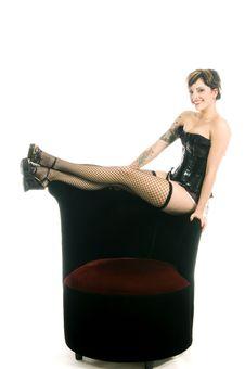 Cabaret Girl Stock Photo