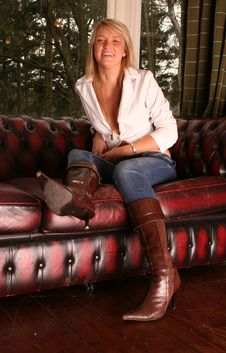Free Leather Kirsty Stock Photography - 712612
