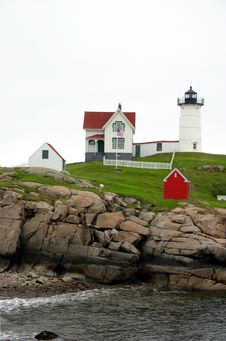 Cape Neddick Lighthouse, Maine Stock Image