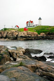 Cape Neddick Lighthouse, Maine Stock Photo