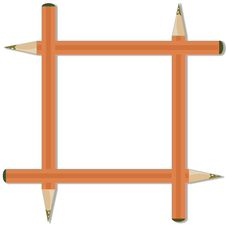 Four Pencils. Royalty Free Stock Photography