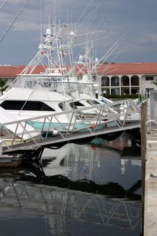 Free Fishing Boats At Marina Stock Photography - 715872