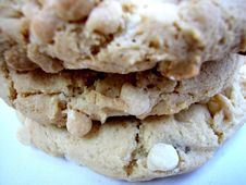 Three White Chocolate Chip Cookies