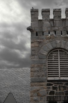 Free Church Ruins With Storm Royalty Free Stock Image - 716966