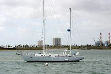 Free Anchored Sailboat 2 Royalty Free Stock Image - 717926