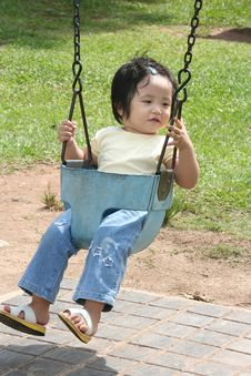 Free Little Girl On The Swing Royalty Free Stock Photos - 718978