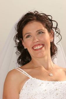 Free Wedding Bride Smiling Stock Image - 719001