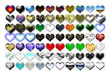 Free Hearts Illustration 01 Royalty Free Stock Photography - 719607