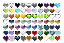 Free Hearts Illustration 03 Royalty Free Stock Images - 719619