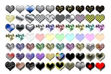 Free Hearts Illustration 02 Royalty Free Stock Photography - 719627