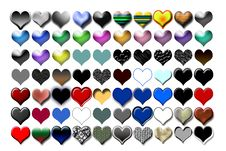 Free Hearts Illustration 04 Stock Image - 719631