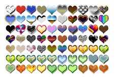 Free Hearts Illustration 05 Stock Images - 719644
