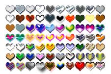 Free Hearts Illustration 08 Royalty Free Stock Image - 719666