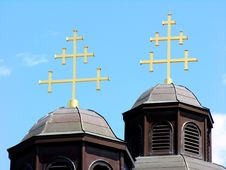 Free Ukrainian Catholic Church Roof Royalty Free Stock Photos - 719848
