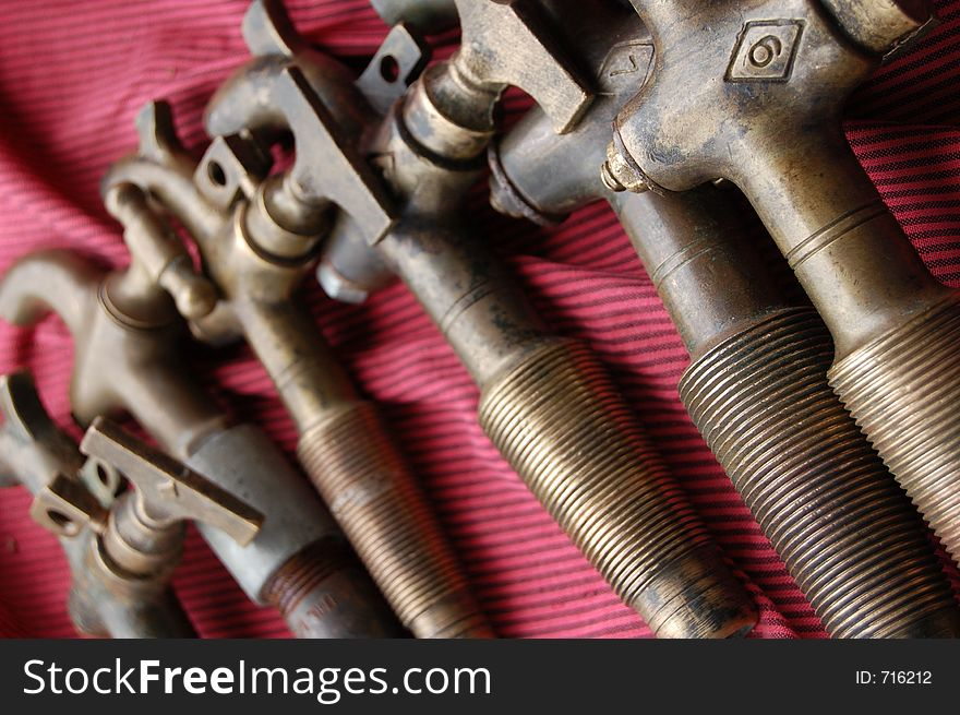 An array of old taps