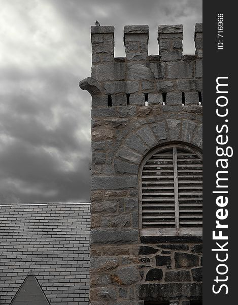 Church Ruins with storm