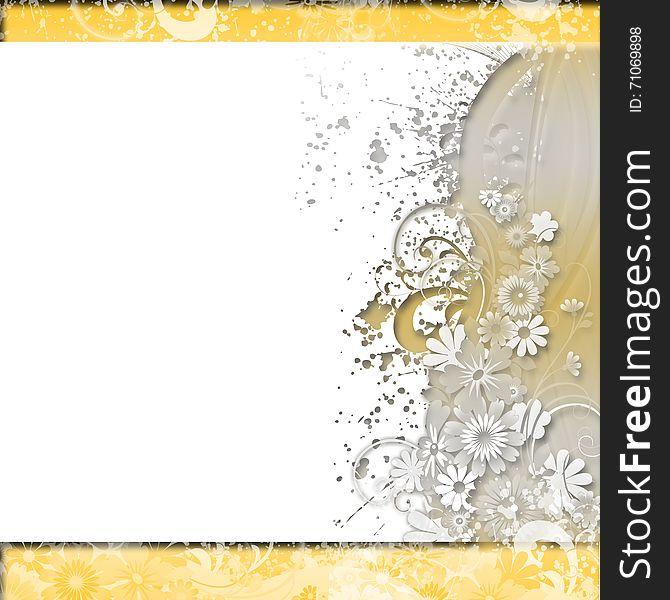 Floral Background Invitation Wedding Paper Cards